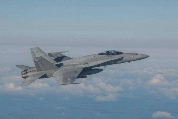 BRTE-19 - F-18 da Finlândia - foto Forças Armadas da Suécia