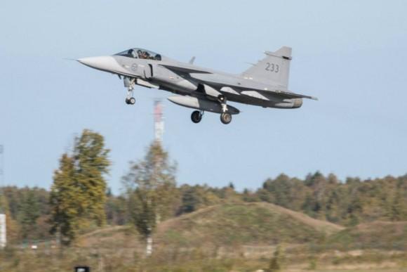 BRTE-19 - Gripen sueco - foto Forças Armadas da Suécia