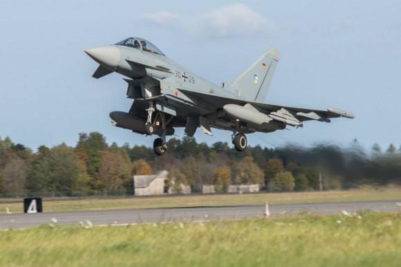 BRTE-19 - Typhoon alemão - foto Forças Armadas da Suécia