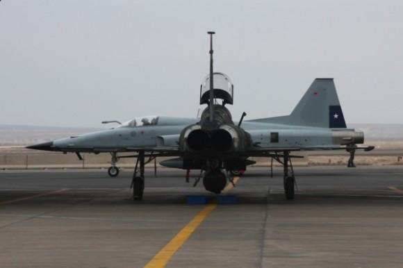 F-5 - FAB aprimora experiência operacional no Chile - foto via FAB