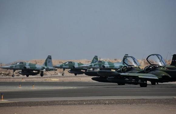 Salitre 2014 - F-5EM e A-37 - foto FACh