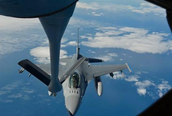 Salitre 2014 - REVO de F-16 - foto FACh