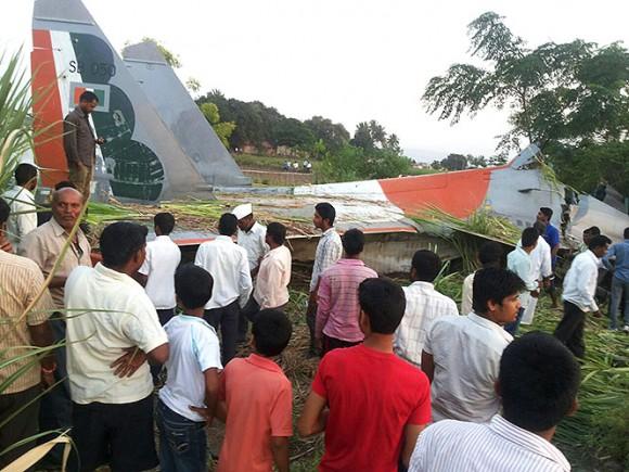 Su-30 indiano acidentado - foto via Hindustan Times