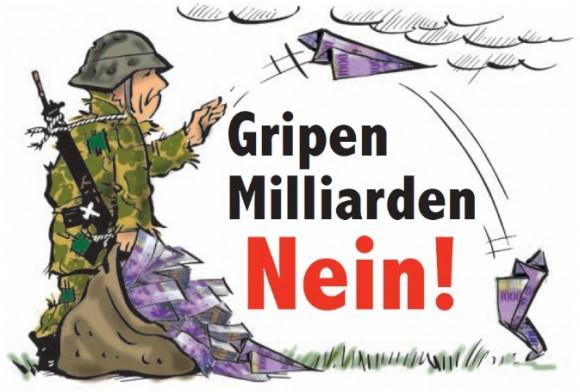 charge campanha não ao Gripen na Suíça