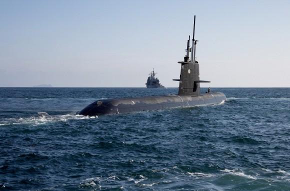 submarino sueco classe Gotland - foto Saab