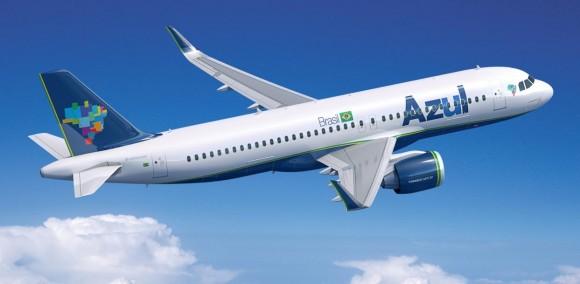 A320neo nas cores da Azul - imagem Airbus via Azul
