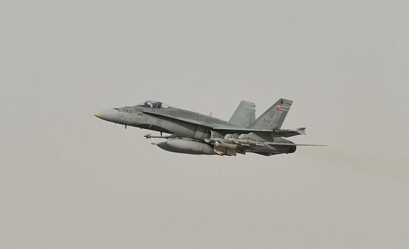 CF-188 Hornet em missão de 30 de outubro de 2014 na coalizão contra o EI - foto MD Canadá