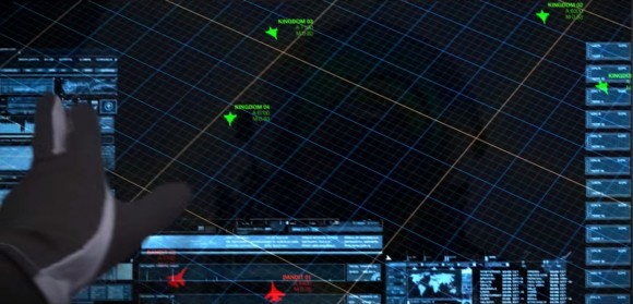 Display tela única em Gripen - cena 2 vídeo promocional Saab