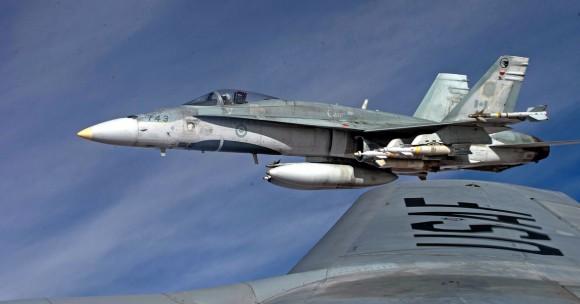 Hornet do Canadá em missão sobre o Iraque - foto Força Aérea Real Canadense