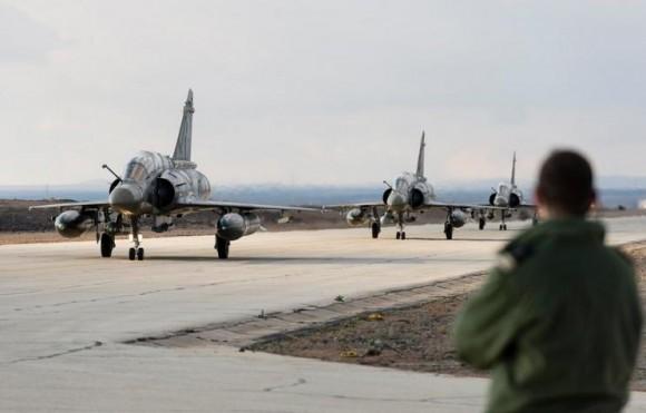 Operação Chammal - Primeiros três Mirage 2000D na Jordânia - foto Min Def França