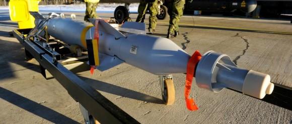 Bomba guiada a laser GBU-12 de 250kg - foto Forças Armadas da Suécia