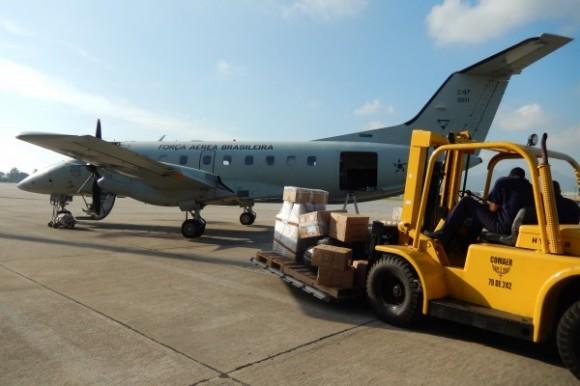 C-97 Brasília em configuração cargueiro - foto FAB