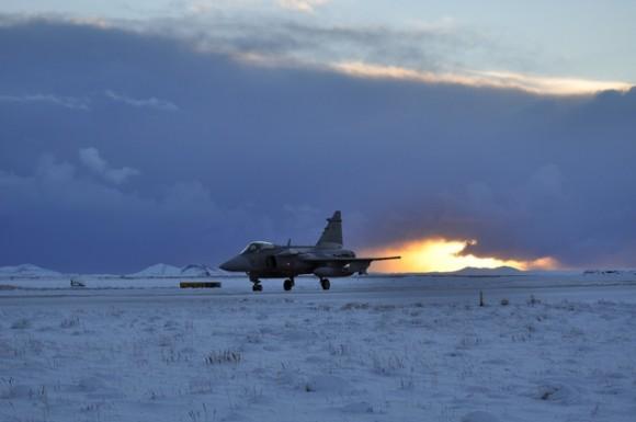 Gripen Tcheco deixa a Islândia - foto Min Def Rep Tcheca