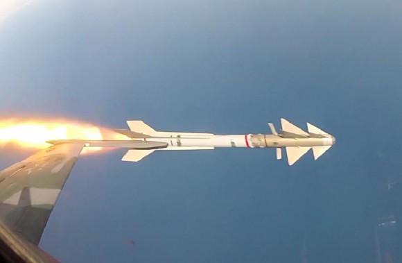 Lançamento Phyton 4 de F-5M - cena vídeo Conexão FAB dez 2014