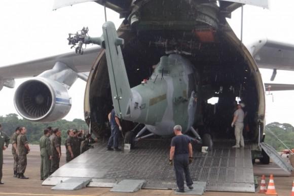 chegada últimos Mi-35 encomendados - foto FAB