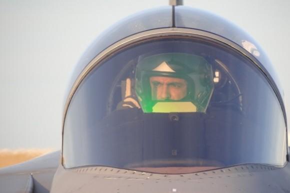 Capitão Fórneas da FAB em Gripen C - foto 4 via Agencia Forca Aerea - FAB