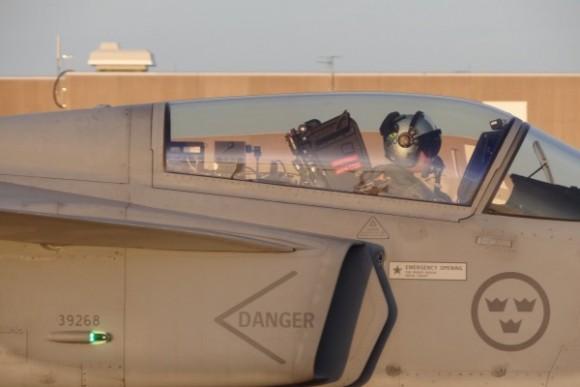 Capitão Gustavo da FAB em Gripen C - foto 2 via Agencia Forca Aerea - FAB