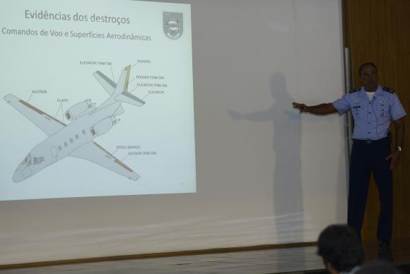 apresentação dados investigação CENIPA avião Ed Campos - foto J Cruz Ag Brasil
