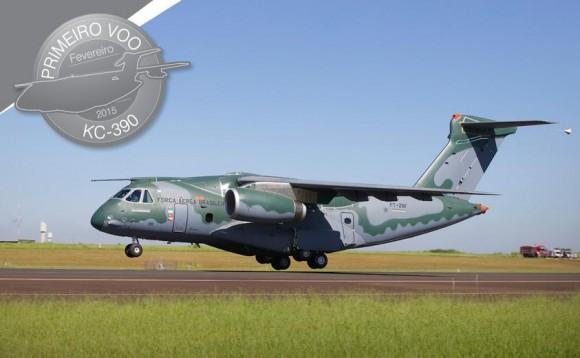 KC-390 primeiro decolagem