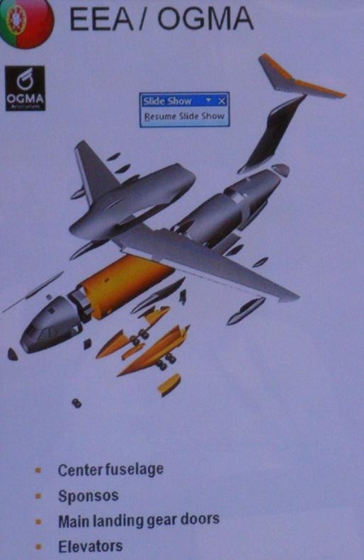 Reprodução tela apresentação Embraer Roll Out KC-390 outubro 2014 - foto Nunão