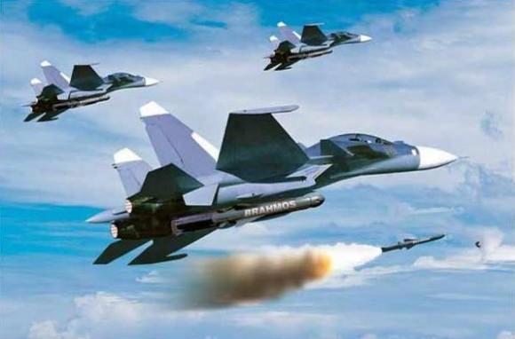 Brahmos em Su-30 - imagem via Brahmos Aerospace