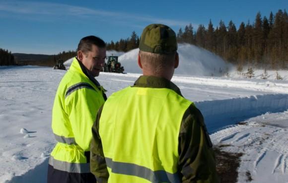 Gripen - Ala 17 treina tiro ar-solo em Vidsel - foto 14 Forças Armadas da Suécia