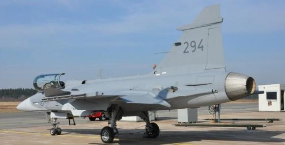 Gripen C 294 - ultima entrega - foto Forcas Armadas da Suecia