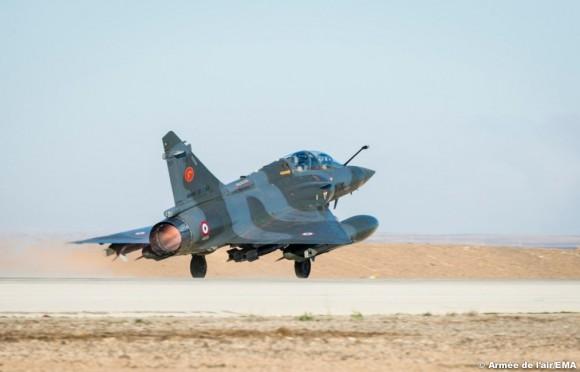 Mirage 2000D na Operação Chammal - foto Força Aérea Francesa