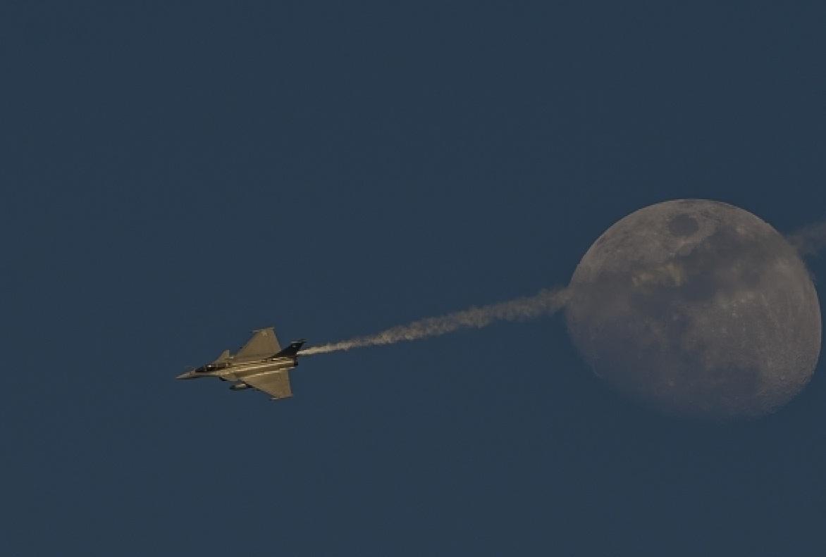 Rafale na Operação Chammal - detaque de foto via Min Def da França