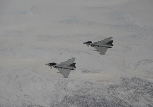 Typhoons italianos - foto de arquivo da Força Aérea Italiana