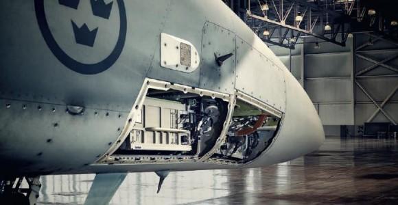 Gripen C - back end radar PS-05A mk4 - imagem Saab