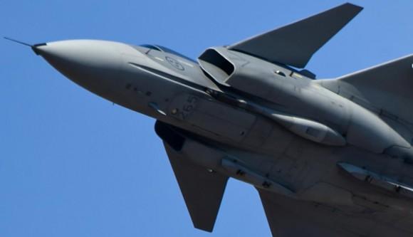 Gripen C - parte frontal - ampliacao foto Saab