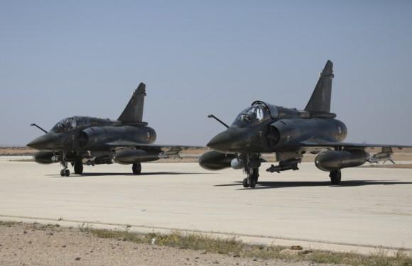 Jatos Mirage 2000 na Operação Chammal - foto Min Def França