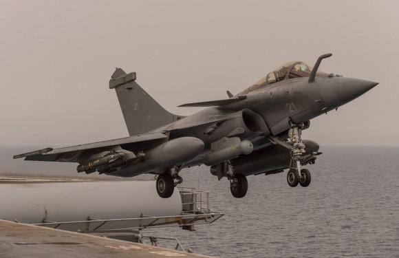 Jato Rafale M - naval -  na Operação Chammal - foto Min Def França