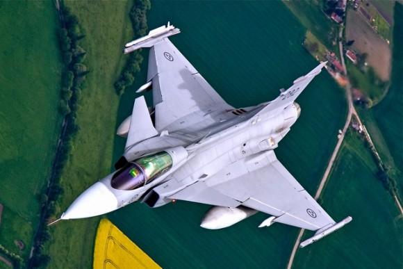 Lion Effort 2015 - caça Gripen da Suecia - foto MD Republica Tcheca