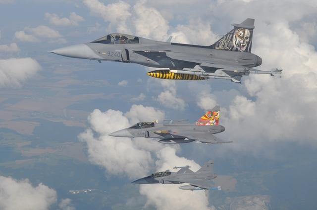celebração tcheca 10 anos Gripen - Tiger Meet 2013 e 2014 - fotos Min Def Rep Tcheca