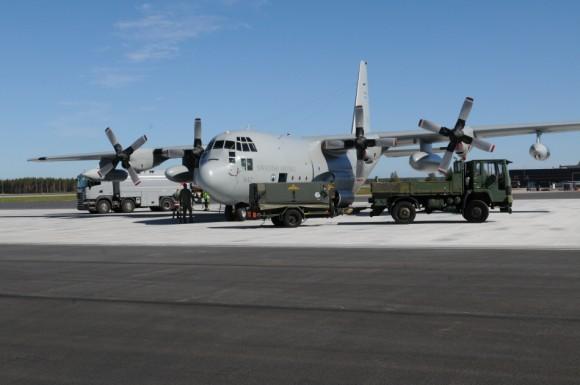 Artic Challenge 2015 - C-130T sueco - foto Forças Armadas da Suécia