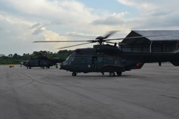 Treinamento FAB e EB com H-36 e HM-4 em Belém - foto FAB