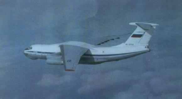Foto de IL-76 interceptado mostrada pelo comandante Micael Byden da Força Aérea Sueca - imagem Expressen