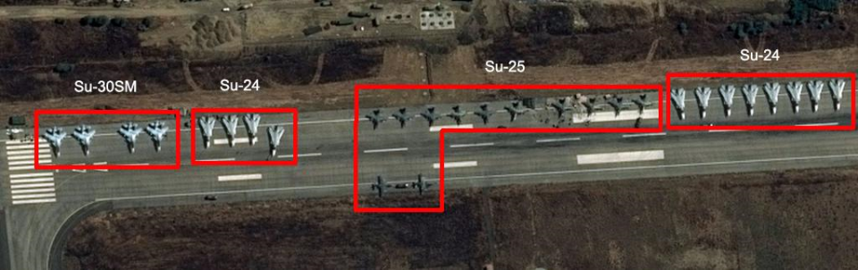 Russian Aircrafts in Syria