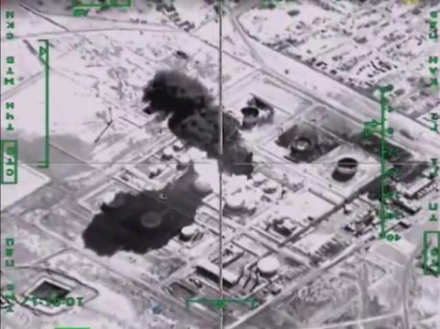 ataque russo a refinaria do EI