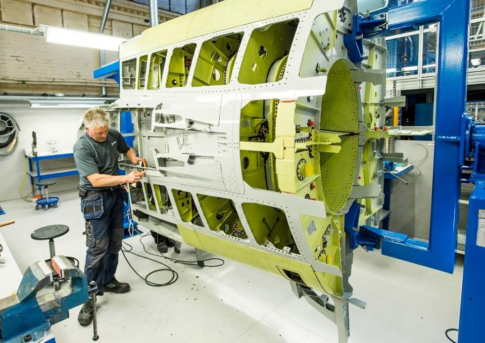 Seção da fuselagem do Gripen E