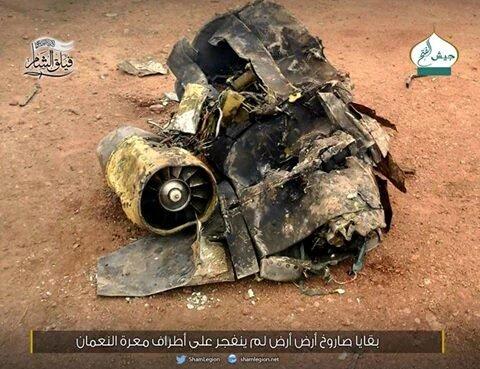 possivel resto de missil Kh-555 na siria