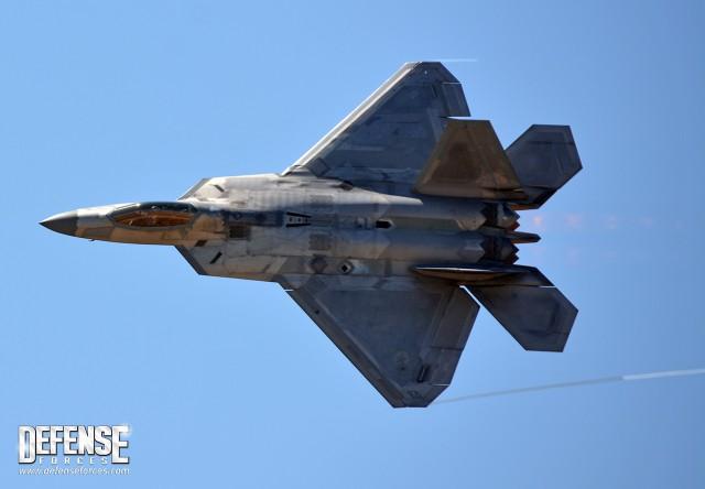 F-22 Raptor no Fort Worth Alliance Air Show em 2015. Foto: Alexandre Galante