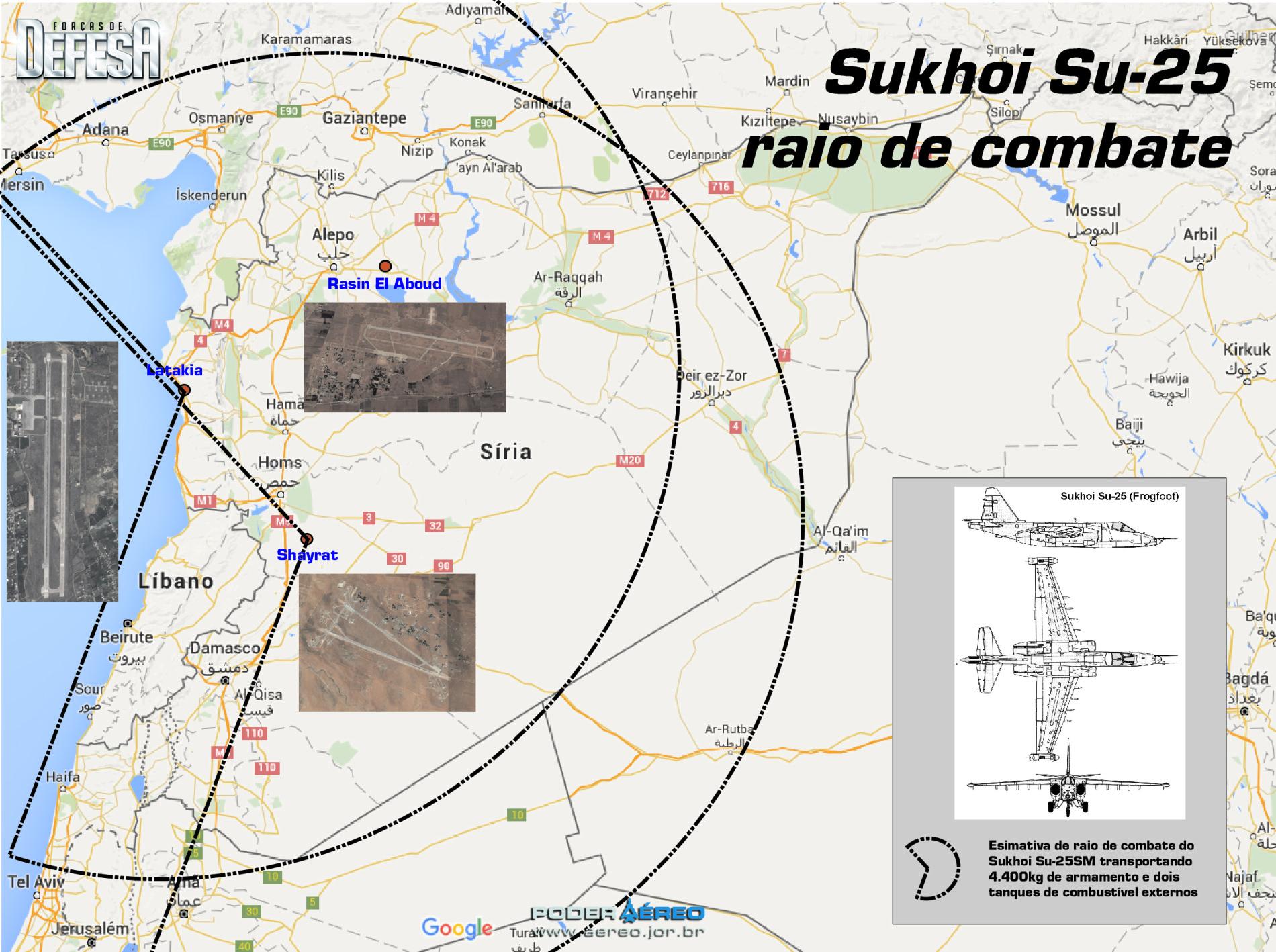 Su-25 raio de combate na siria