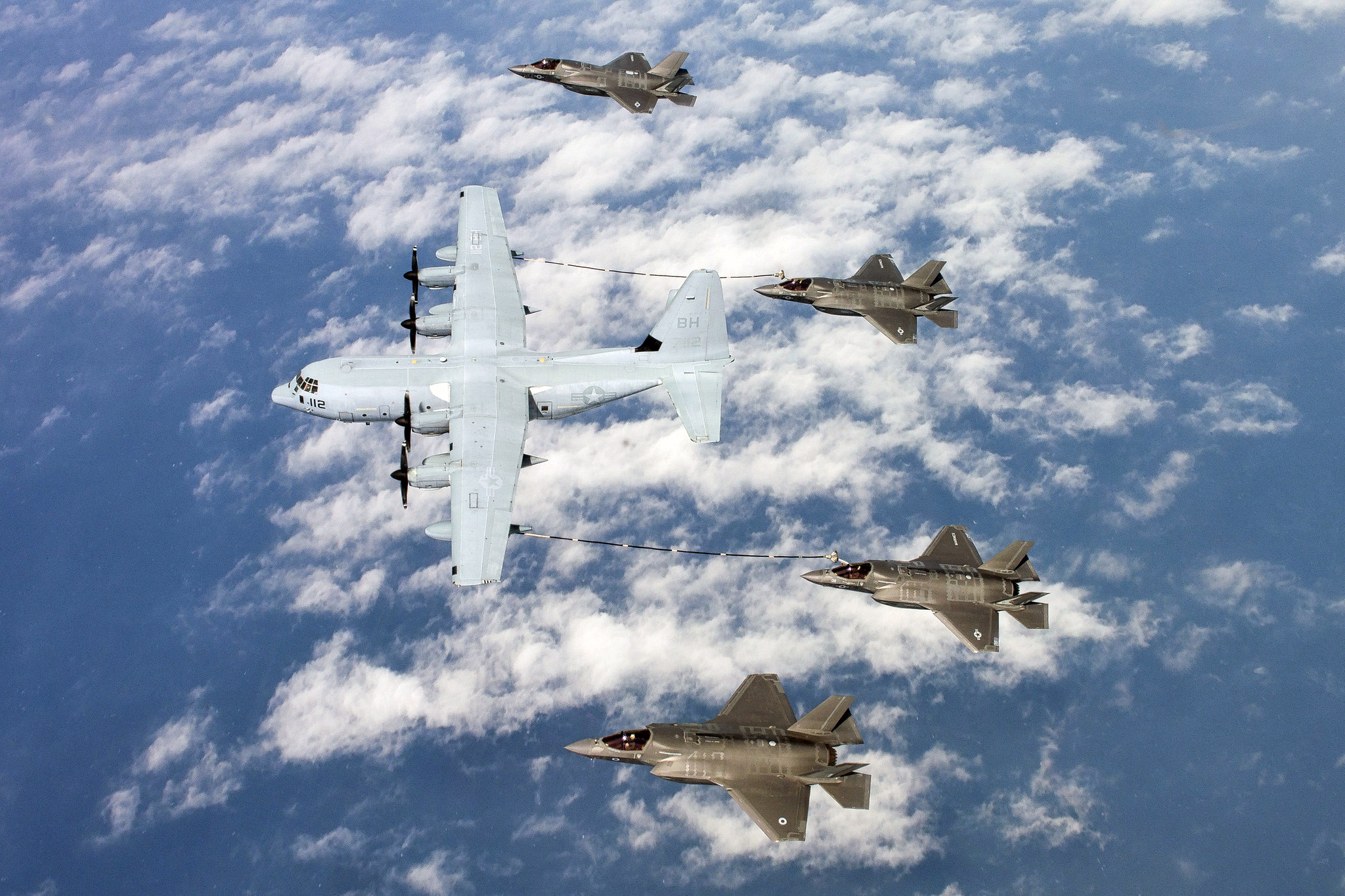 C-130 and F-35s