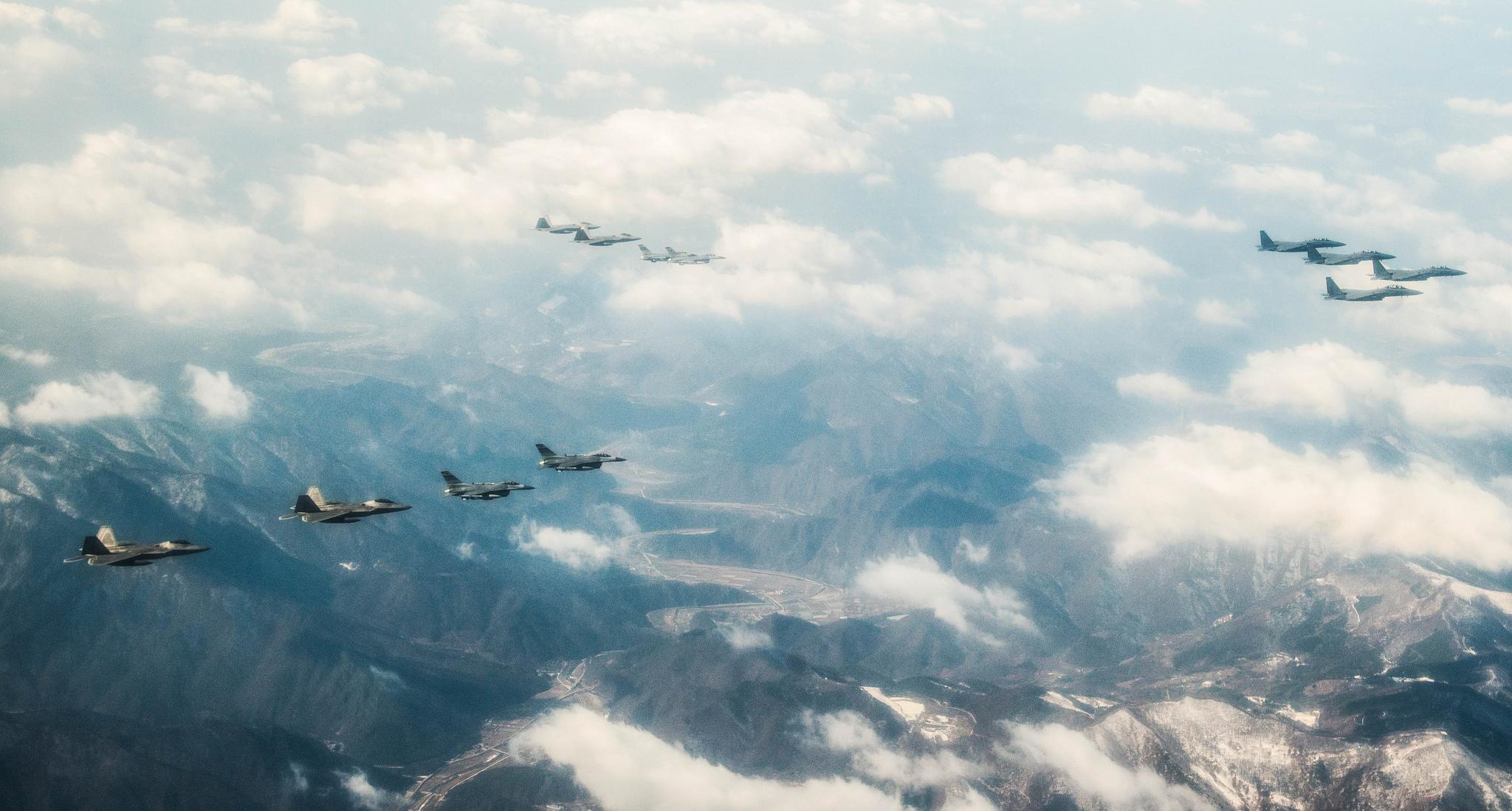 Raptors over South Korea