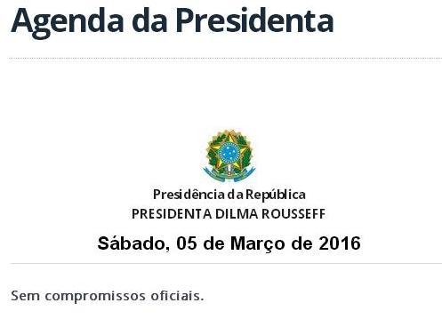 Dilma agenda - captura tela portal planalto 5marco2016
