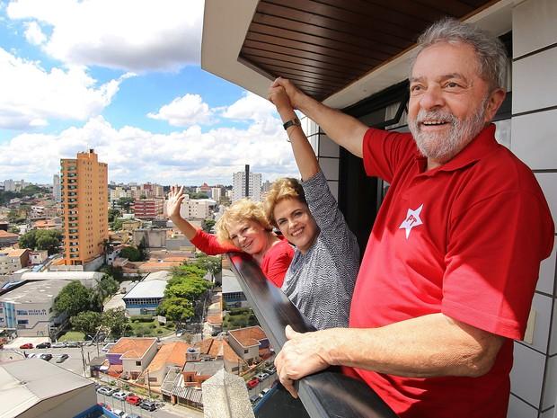 Dilma com Lula em Sao Bernardo do Campo - foto 5marco2016 - G1