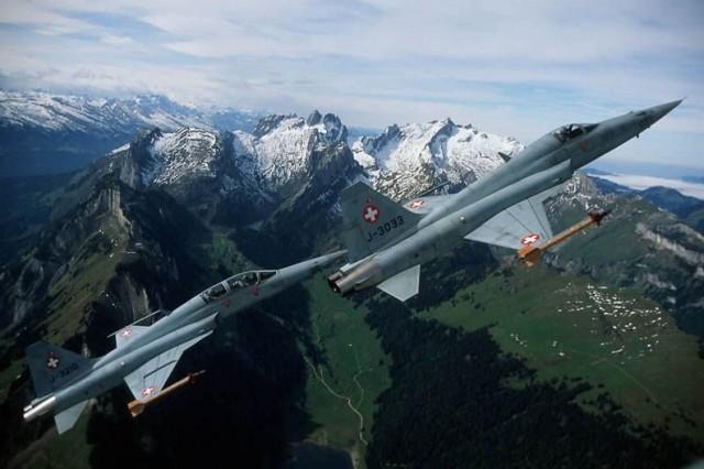 F-5E e F-5F Tiger II - foto Força Aérea Suíça